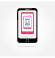 colorful Cell phone icons vector image