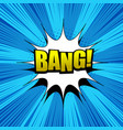 Comic bang wording background