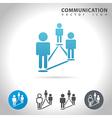 community blue icon vector image vector image