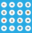 computer icons colored line set with pc laptop vector image vector image