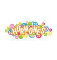 concept mechanism human hormones emblem vector image