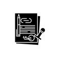corporate law black icon sign on isolated vector image vector image