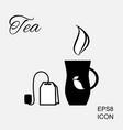 cup of hot tea icon vector image