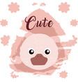 duck cute animal cartoon vector image vector image
