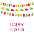 Easter greeting card with garlands vector image