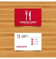 Eat sign icon Cutlery symbol Fork and knife vector image vector image