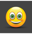 emoji smiling green eyes vector image