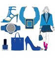 fashion items on transparent background vector image vector image