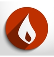 fire flame web icon vector image