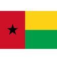 Flag of Guinea - Bissau vector image vector image