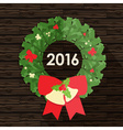 Flat design of christmas wreath vector image