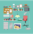 flat room interior elements set vector image vector image
