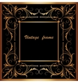 frame with square ornament vector image vector image