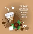 fresh cocktail logo sweet beautiful summer dessert vector image vector image