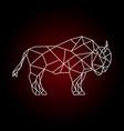 geometric buffalo print polygonal bull vector image vector image
