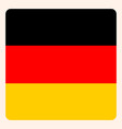 germany square flag button social media vector image vector image