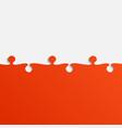 grey and orange piece puzzle jigsaw vector image vector image
