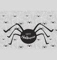 halloween spiderweb background with spiders vector image vector image
