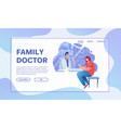 healthcare services flat vector image
