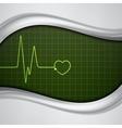 Heart pulse monitor vector image vector image