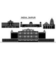 india jaipur architecture urban skyline with vector image