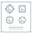 Letter L Monogram vector image vector image