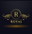 letter r royal luxury logo for your brand vector image vector image