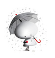 little man with an umbrella vector image vector image