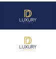 luxury logo d modern style vector image vector image