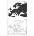 maps of europe vector image