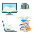 online encyclopedia poster with computer and vector image vector image