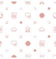 orange icons pattern seamless white background vector image vector image