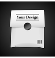 Paper Bag Package Isolated On Black vector image