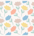 pattern with paper tulips vector image vector image