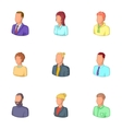 People icons set cartoon style vector image vector image