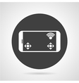 Phone controller black round icon vector image