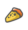 pizza slice food icon cartoon vector image