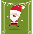 santa claus cute frame character icon vector image vector image
