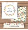 Save the date card with feather