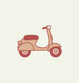 scooter isolated vector image vector image