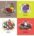 Seafood Design Concept Set vector image vector image