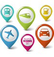 Set of round 3D transport pointers vector image vector image