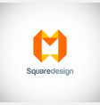 shape square letter m logo vector image vector image