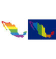 spectrum pixel dotted mexico map vector image