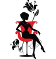 stylish woman silhouette vector image vector image