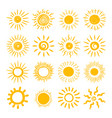 sun hand draw icon set vector image vector image