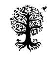Tree 27 with roots for your design vector image vector image