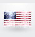 usa flag composed of colorful dots vector image