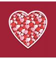 valentine hearts decoration vector image vector image