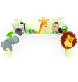 wild animals letterhead background vector image vector image